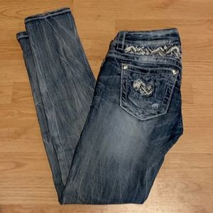 Miss Me Size 26 Ankle Skinny Distressed Jeans